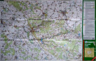 Turistická mapa mívá sever na horním okraji.
