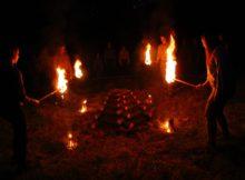 Tradiční zažíhání slavnostního ohně