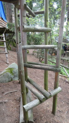 Točité dřevěné schody