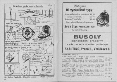 Dvoustrana z vydání v roce 1938.